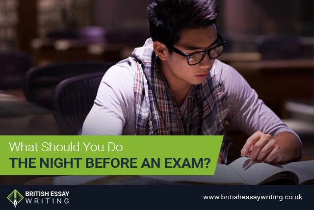 What Should You Do the Night before an Exam?